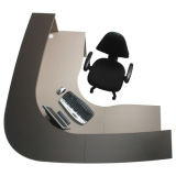 Excel ErgoCurve (Boomerang Shape) Reception Desk