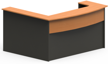 Excel Bow Front Reception Desk