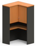 Excel 'L' Shaped Hutch with Hinged Doors