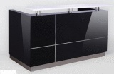 Hugo Reception Desk with Black Gloss Finish