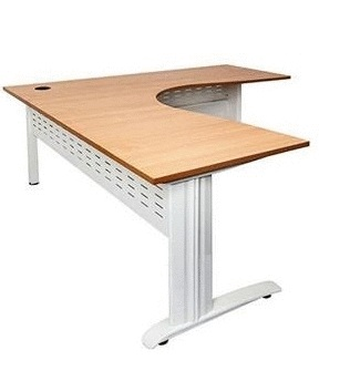 Rapid Electric Height Adjustable Corner Workstation