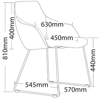 Oscar Sled Visitor Chair with arms