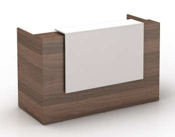 OM Casnan / White Reception Desk