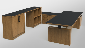 Exec Height Adjustable Desk Setting