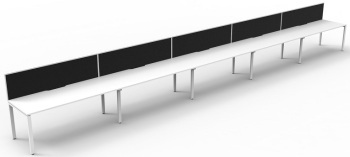 Rapid Deluxe Profile Single 5 Person Desk