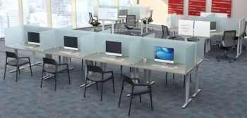 Frosted Acrylic Desk Top Screens