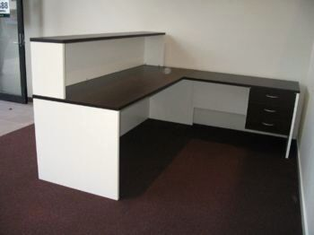 Excel Desk with Return & Reception Hob