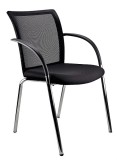 Galaxy Mesh Back Visitor Chair, 4 leg