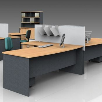 DDK Panel End Desk with Screen