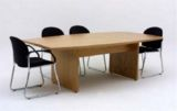 Ascot Timber Veneer Boat-Shaped Board Table