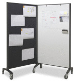 Mobile Room Divider with whiteboard/pinboard