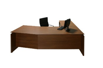 Vantage V1  Angled Top Desk & Return