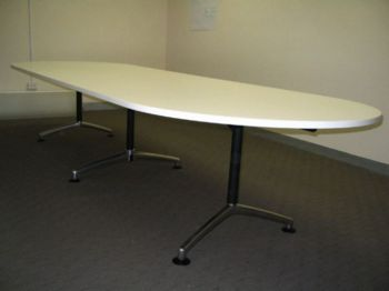 Excel D Ended Laminate Table on I-am Base
