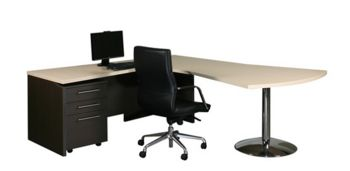 Vantage V4 Dovetail Desk & Return