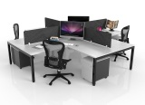 4-Way Workstation Desks