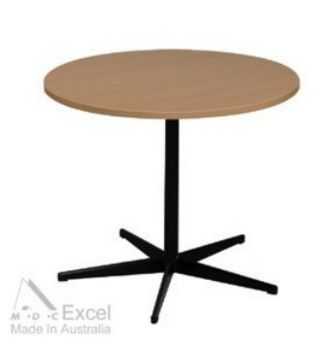 Round Table with black 5 way base