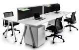 Vee Leg Double Sided Desk