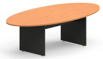 Elliptical Table with H Base