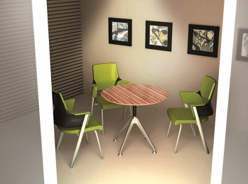 Potenza Timber Veneer Round Meeting Table