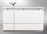 Hugo Reception Desk - Gloss White finish