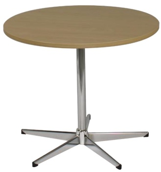Round Table, Chrome 5 Way Base